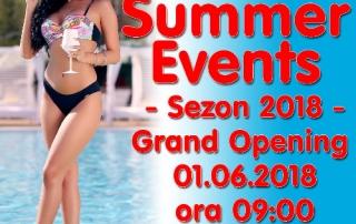 Piscina ANNA Summer Events se deschide Vineri 1 Iunie 2018