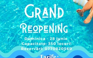 Deschidere Piscină ANNA Summer Events Sezon 2020