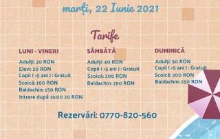 Deschidere Piscină ANNA Summer Events Sezon 2021